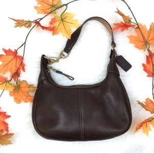 Vintage Coach Small Brown Hobo Leather Purse